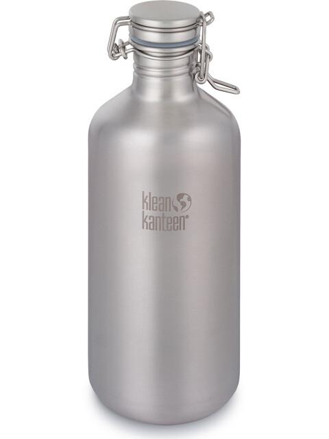 Klean Kanteen Growler Bottle Swing Lok Cap 1900ml Brushed Stainless